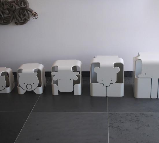 set scaune taburet corian