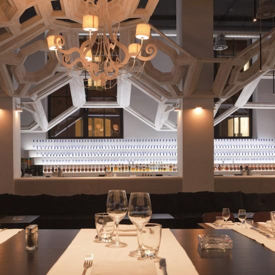amenajare restaurant loft corian